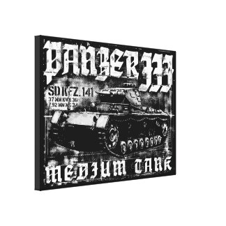 Panzer III Wrapped Canvas