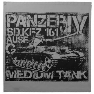 "Panzer IV Cloth Napkins (set of 4) dinner 20"" x 2"