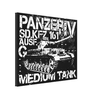 Panzer IV estiró la impresión de la lona