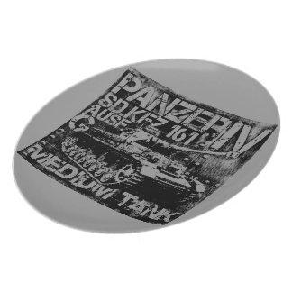 Panzer IV Melamine Plate
