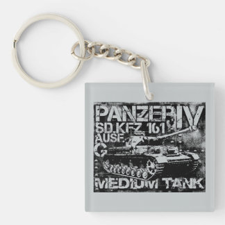 Panzer IV Square (double-sided) Keychain