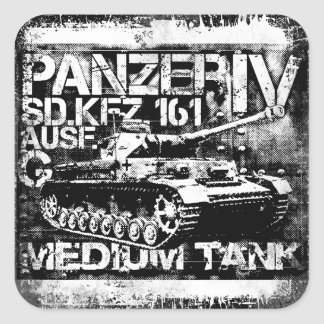 Panzer IV Square Stickers