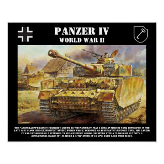 Panzer IV Tank Poster