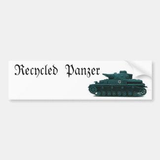 Panzer reciclado pegatina de parachoque