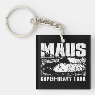 Panzer VIII Maus Double-Sided Square Acrylic Keyc Single-Sided Square Acrylic Keychain