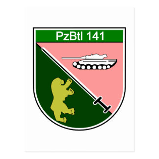 Panzerbataillon 141 postcard