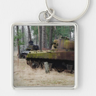 PANZERWALD Silver-Colored SQUARE KEYCHAIN