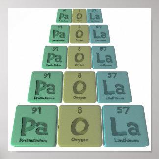 Paola as Protactinium Oxygen Lanthanum Print