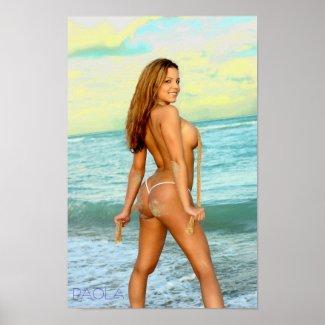 PAOLA Beach Poster print