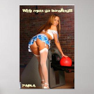 PAOLA Bowling Poster print