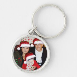 PAOLA KEY Silver-Colored ROUND KEYCHAIN