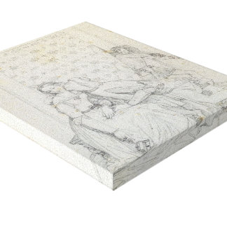 Paolo and Francesca by Jean Dominique Ingres Gallery Wrap Canvas