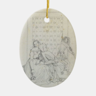 Paolo and Francesca by Jean Dominique Ingres Christmas Tree Ornament
