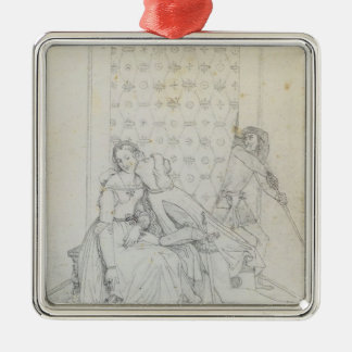 Paolo and Francesca by Jean Dominique Ingres Christmas Ornaments