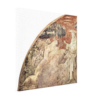 Paolo Uccello - Creation of the Animals Stretched Canvas Print