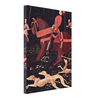 Paolo Uccello - hunt at night details Canvas Print