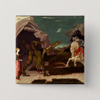 PAOLO UCCELLO - Saint George and the Dragon 1470 Pinback Button