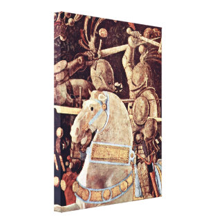 Paolo Uccello - The leader of the Florentine Gallery Wrapped Canvas