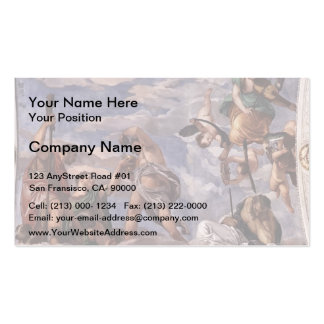 Paolo Veronese Bacchus Vertumnus and Saturn Business Card Templates