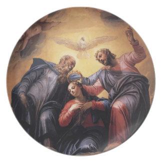 Paolo Veronese- Coronation of the Virgin Dinner Plates