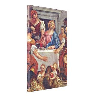 Paolo Veronese - Cristo en Emmaus Impresión En Lona