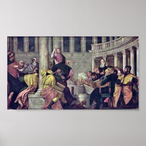 Paolo Veronese - Cristo y los escribanos Posters