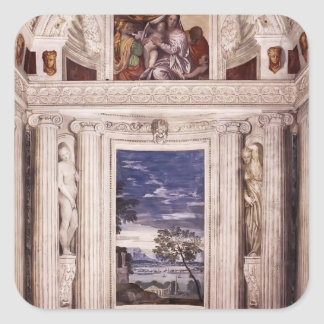 Paolo Veronese: End wall of the Stanza del Cane Sticker