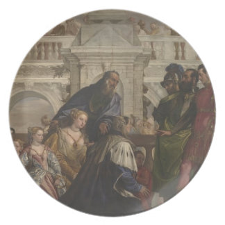 Paolo Veronese -Family of Darius before Alexander Party Plates