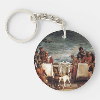 Paolo Veronese- Feast at the House of Simon Single-Sided Round Acrylic Keychain