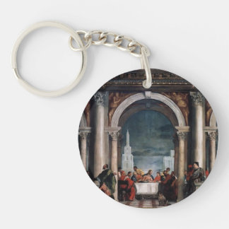 Paolo Veronese- Feast in the House of Levi Single-Sided Round Acrylic Keychain