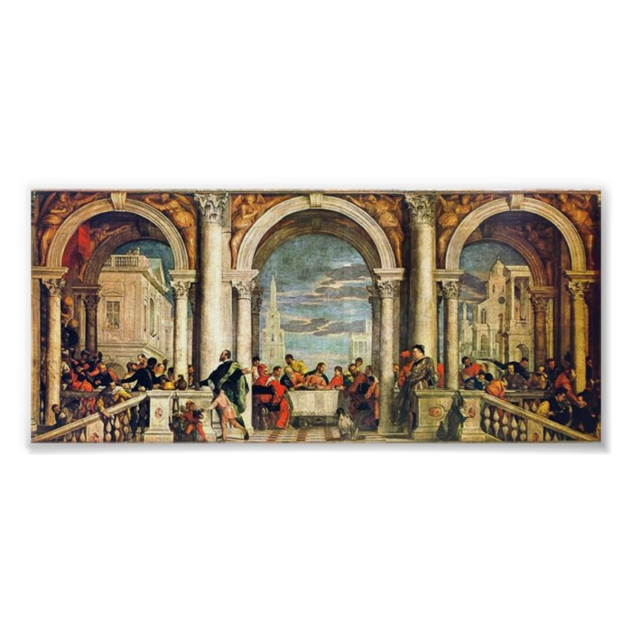 Paolo Veronese - Feast in the House of Levi Poster | Zazzle
