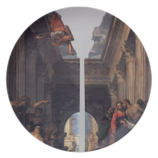 Paolo Veronese- Healing of the Lame Man Party Plate