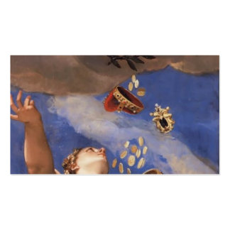 Paolo Veronese- Juno Showering Gifts on Venetia Double-Sided Standard Business Cards (Pack Of 100)
