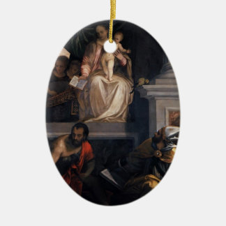 Paolo Veronese- Madonna Enthroned with Child Ornaments