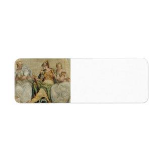 Paolo Veronese: Minerva entre la geometría, aritmé Etiqueta De Remite