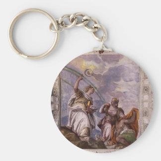 Paolo Veronese Mortal Man guiding Divine Eternity Key Chains