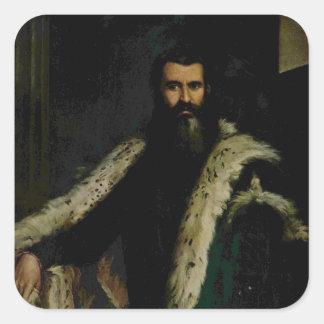 Paolo Veronese- Portrait of Daniele Barbaro Square Sticker