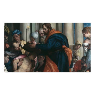 Paolo Veronese- Saint Barnabas healing the sick Business Card Template