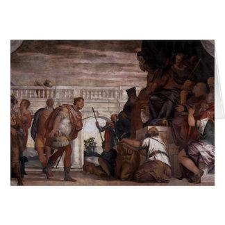Paolo Veronese: St Sebastian que reprende Diocleti Tarjeta De Felicitación