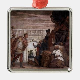 Paolo Veronese St Sebastian Reproving Diocletian Christmas Tree Ornaments