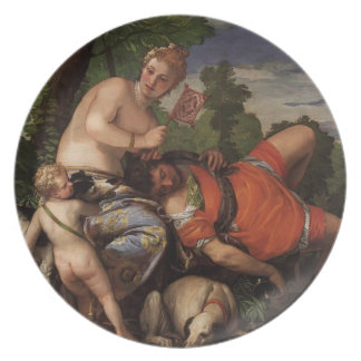 Paolo Veronese- Venus and Adonis Dinner Plate