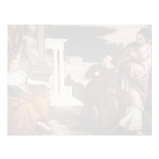 Paolo Veronese- Youth between Virtue and Vice Customized Letterhead