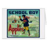 Paonia, Colorado - School Boy Apple Label