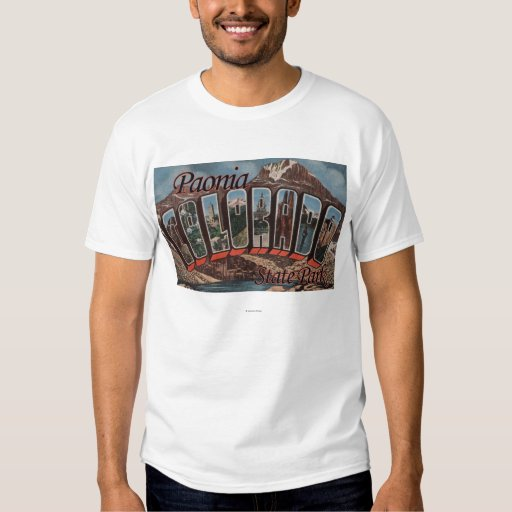 Paonia State Park, Colorado - Large Letter Scene T Shirt