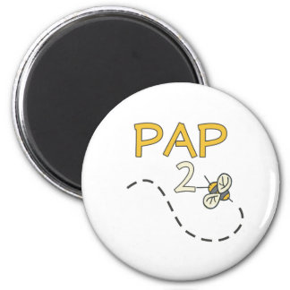 Pap 2 Bee 2 Inch Round Magnet