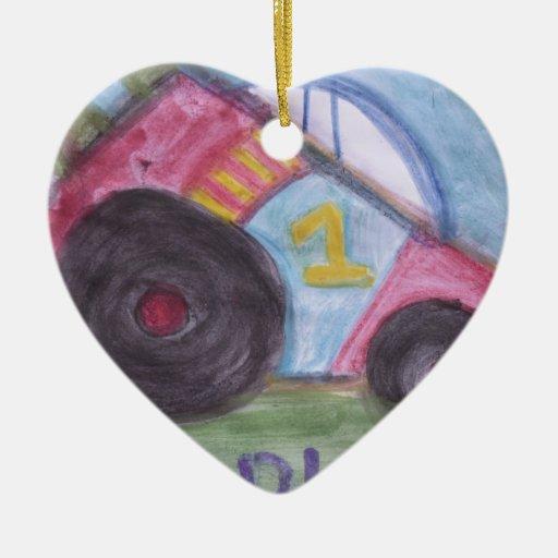 Papá #1 adorno de cerámica en forma de corazón