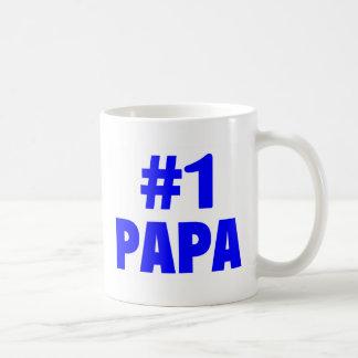 Papá #1 (azul) taza clásica