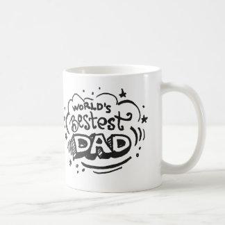Papá 1 de Bestest de los mundos Taza Clásica