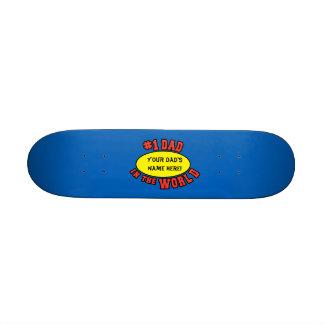 Papá #1 en el día de padre del personalizar del skateboard