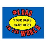 Papá #1 en el día de padre del personalizar del postal